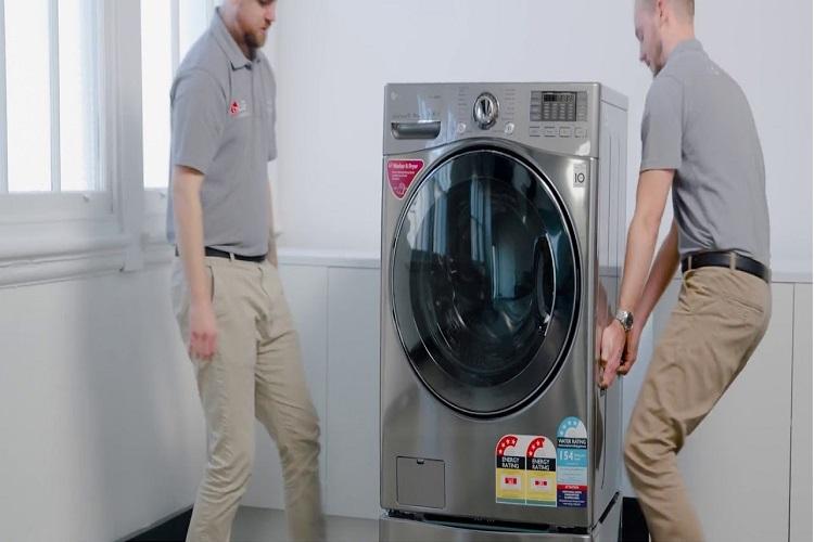 نصب و راه اندازی ماشین لباسشویی ال جی-