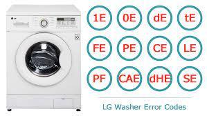 خطاهای رایج ماشین لباسشویی (LG)