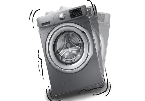 لرزش های شدید در ماشین لباسشویی